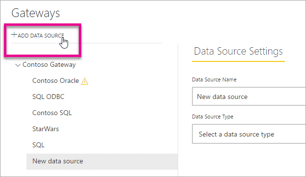 create a data source